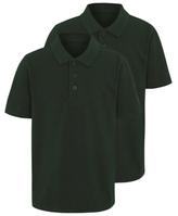 George Boys Bottle Green School Polo Shirt 2 Pack