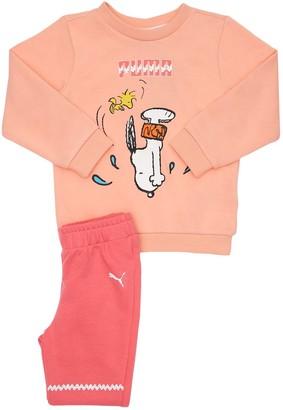 Puma Peanuts Cotton Sweatshirt & Sweatpants