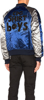 Comme des Garcons Polyester Cloth Quilted Bomber Jacket