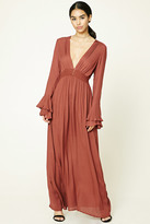 Forever 21 FOREVER 21+ Flounce-Sleeve Maxi Dress