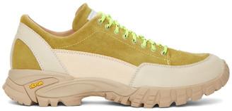 Diemme Beige and Green Possagno Sneakers