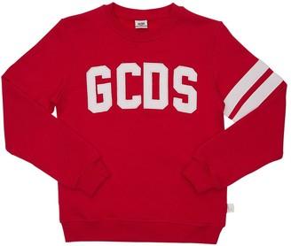 GCDS Embroidered Logo Cotton Sweatshirt