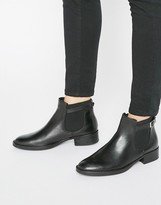 Oasis Leather Buckle Detail Chelsea Boot