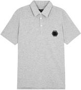 Philipp Plein Brookridge Grey Cotton Blend Polo Shirt