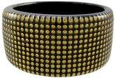 Zeckos 1 1/2 Inch Wide tone Nailhead Studded Lucite Bangle Bracelet