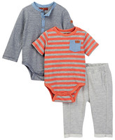 7 For All Mankind Bodysuit & Bottoms 3-Piece Set (Baby Boys)