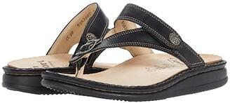 Finn Comfort Alexandria-S (Black Nappaseda Schwarz) Women's Sandals