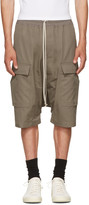 Rick Owens Grey Pods Cargo Shorts