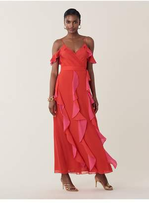 Diane von Furstenberg Salona Silk-Chiffon Maxi Wrap Skirt