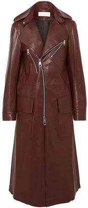 Chloé Zip-detailed Leather Coat