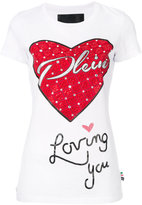 Philipp Plein embellished heart T-shirt