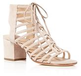 Pour La Victoire Amabelle Open Lace Up Mid Heel Sandals