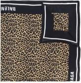Balenciaga leopard logo trim scarf