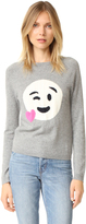 Chinti and Parker Heart Emoji Cashmere Sweater