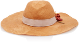 Littledoe M'O Exclusive Monogrammable Bartolomea Straw Hat With Flower Rayon Ribbon