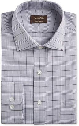 Tasso Elba Men Classic/Regular Fit Non-Iron Supima Cotton Glen Plaid Dress Shirt