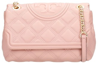Tory Burch Shoulder Bag In Rose-pink Leather