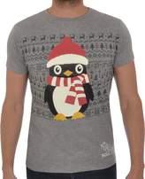 Soul Star Men's Novelty Penguin Christmas T-Shirt XLarge