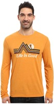 Life is Good Downhill Long Sleeve Cool Tee