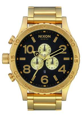 Nixon Mens Chronograph Quartz Watch with Stainless Steel Strap A083-510-00