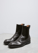 Dries Van Noten Black Smooth Square Toe Chelsea Boot