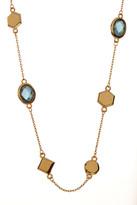 Melinda Maria Levi Mini Mixed Stone London Blue Topaz Station Necklace