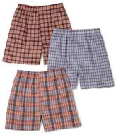 Fruit of the Loom Men's 3-Pack Assorted Tartan Plaids Woven Boxers