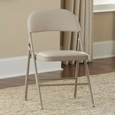 Cosco Home And Office Vinyl Padded Folding Chair Home and Office Finish: Antique