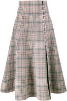 Rosie Assoulin side hooks check midi skirt