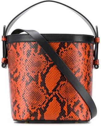 Nico Giani Snakeskin-Effect Bucket Bag