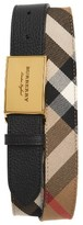 Burberry Men's George Check Leather Belt