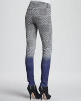 J Brand Jeans Mid-Rise Denim Jeans, Armature Print