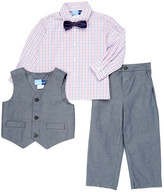 Good Lad Navy Chambray Vest Set - Infant Toddler & Boys