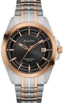 Bulova Men's Quartz Stainless Steel Dress Watch (Model: 98B268)