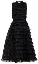 Noir Kei Ninomiya Ruffled Tulle Dress - Womens - Black