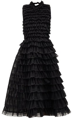 Noir Kei Ninomiya Ruffled Tulle Dress - Womens - Black