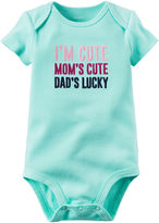 Carter's I'm Cute Mom's Cute Dad's Lucky Bodysuit - Baby Girls newborn-24m