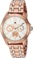 Tommy Hilfiger Women's Quartz Tone and Gold Plated Casual Watch(Model: 1781666)