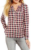 Lucky Brand Gilfriend Plaid Long-Sleeve Shirt