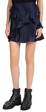 The Kooples Delicate Paisley Ruffled Mini Skirt