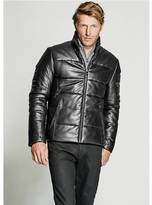 GUESS Quilted Leather Jacket