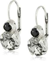"""Sorrelli Evening Moon"""" Round Crystal French Wire Drop Earrings"""