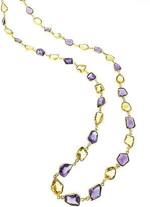 Arthur Marder Fine Jewelry 18K Gold Over Silver Gemstone Necklace