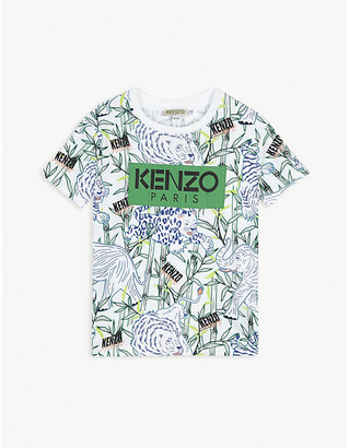 Kenzo All-over jungle-print cotton T-shirt 4-14 years