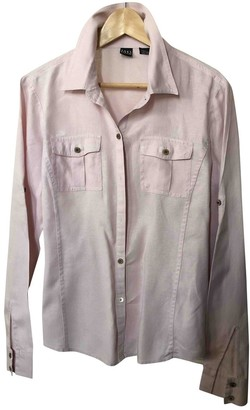Saks Fifth Avenue Pink Linen Top for Women