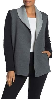 Catherine Malandrino Scuba Colorblock Lapel Jacket