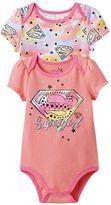 Baby Girl DC Comics Supergirl 2-pk. Graphic & Print Bodysuits