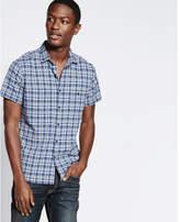 Express short sleeve plaid shirt