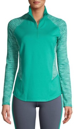 Athletic Works Women's Active Performance 1/4 Zip Pullover Top