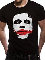 Batman Men's the Dark Knight-Joker Big Face T-Shirt